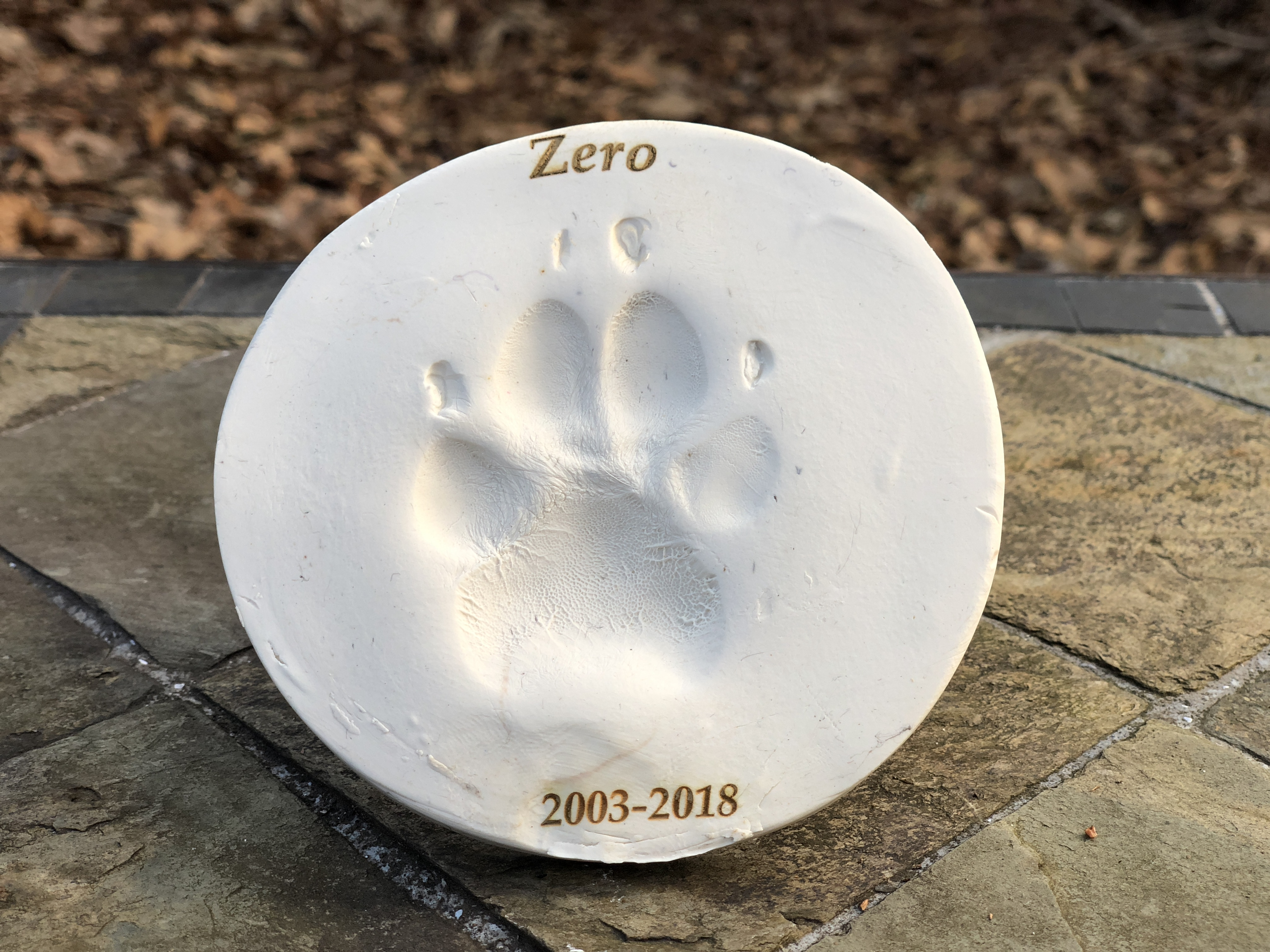 Clay Paw Print Companah Pet Cremation And Aftercare