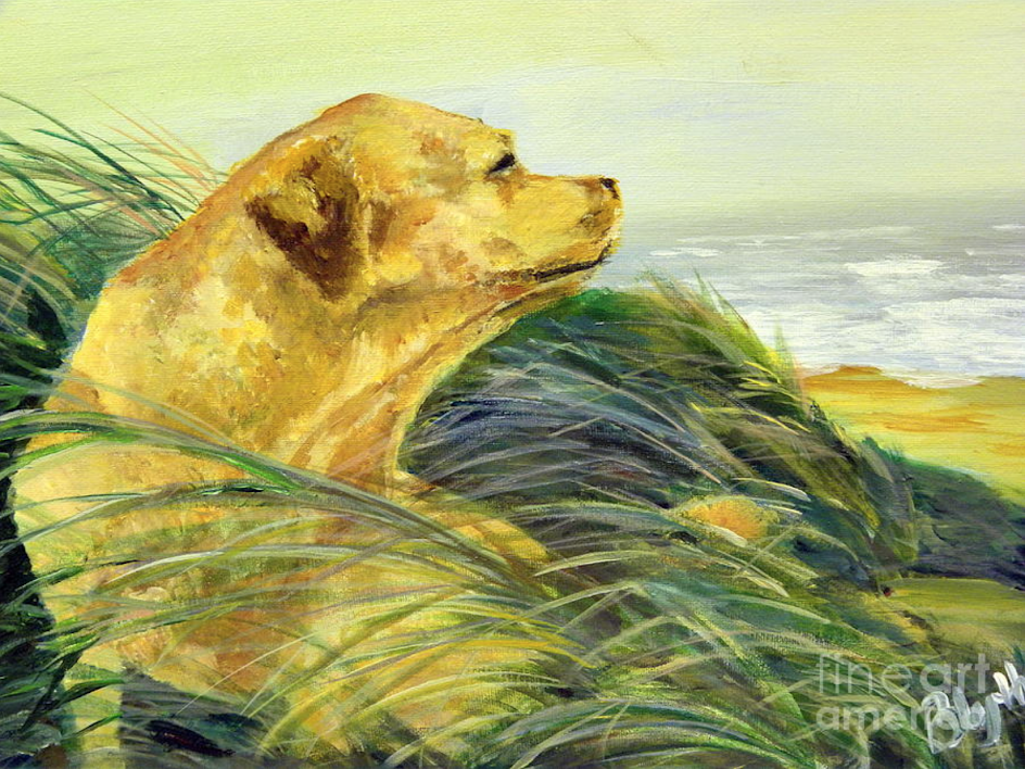watercolor of a dog