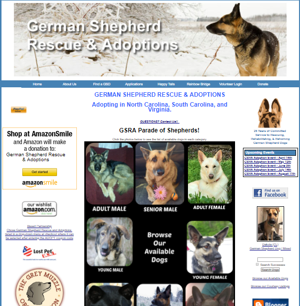 Website for German Shepherd Rescue