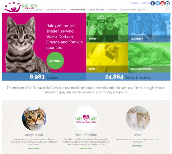 Website for Safe Haven Cats