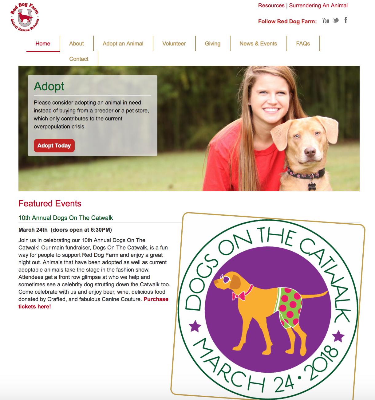 Red Dog Farm Pet Adoption Greensboro