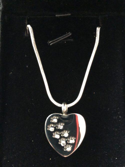 Heart urn pendant